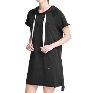 DKNY Women's Black Hoodie Dress Size L